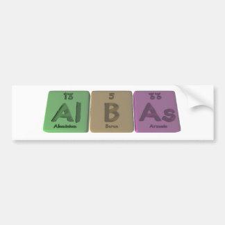 Albas-Al-B-As-Aluminium-Boron-Arsenic Bumper Sticker