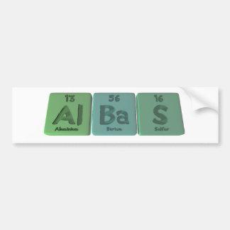 Albas-Al-Ba-S-Aluminium-Barium-Sulfur Car Bumper Sticker
