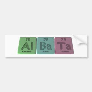 Albata-Al-Ba-Ta-Aluminium-Barium-Tantalum Car Bumper Sticker