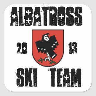 albatross ski team square sticker