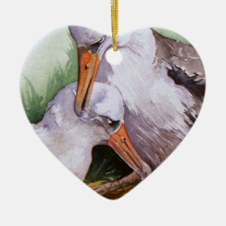 Albatrosses in Love Valentine Ornament