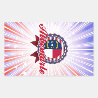 Albemarle, NC Rectangular Sticker