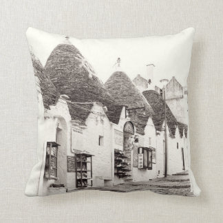 Alberobello Trullis Throw Pillow