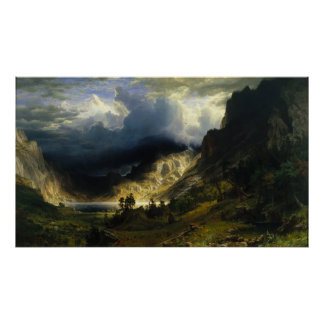 Albert Bierstadt - A Storm in the Rocky Mountains Poster