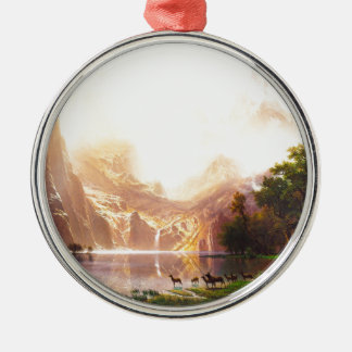 Albert Bierstadt Among the Sierra Nevada Christmas Ornament