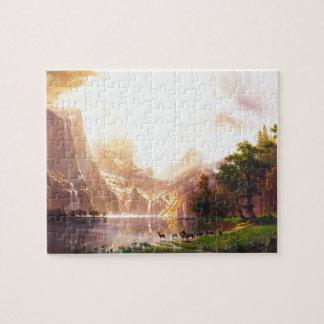 Albert Bierstadt Among the Sierra Nevada Jigsaw Puzzle