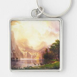 Albert Bierstadt Among the Sierra Nevada Keychains