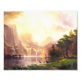 Albert Bierstadt Among the Sierra Nevada Photo