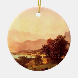 Albert Bierstadt Bernese Alps 1859 Christmas Tree Ornaments