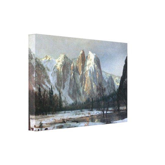Albert Bierstadt - Cathedral Rocks, Yosemite Canvas Print