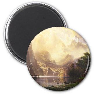 Albert Bierstadt In The Mountains Magnet