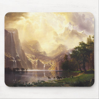 Albert Bierstadt In The Mountains Mouse Pad