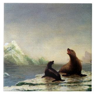 Albert Bierstadt painting, Seals Tile