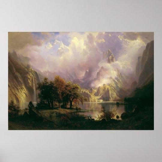 Albert Bierstadt - Rocky Mountain Landscape Poster
