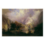 Albert Bierstadt - Rocky Mountain Landscape Print