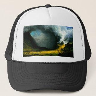 Albert Bierstadt Storm in The Mountains Hat