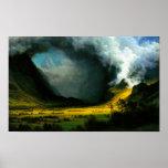 Albert Bierstadt Storm in The Mountains Poster
