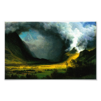 Albert Bierstadt Storm in The Mountains Print