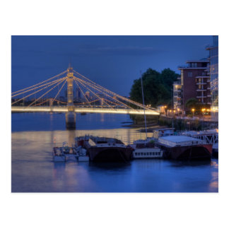 Albert Bridge at night Postcard
