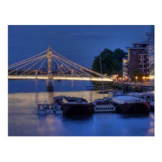 Albert Bridge at night Postcard