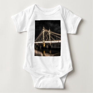 Albert Bridge crosses the River Thames, London Baby Bodysuit