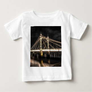 Albert Bridge crosses the River Thames, London Baby T-Shirt