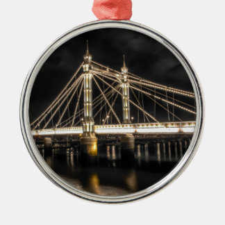 Albert Bridge crosses the River Thames, London Christmas Ornament