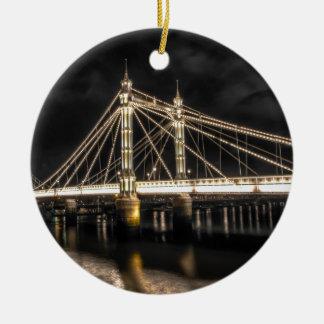 Albert Bridge crosses the River Thames, London Christmas Ornament