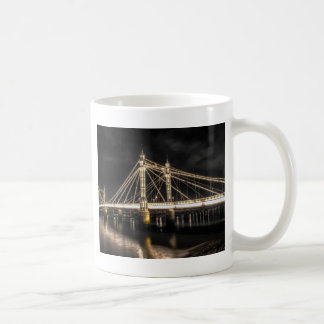 Albert Bridge crosses the River Thames, London Coffee Mug