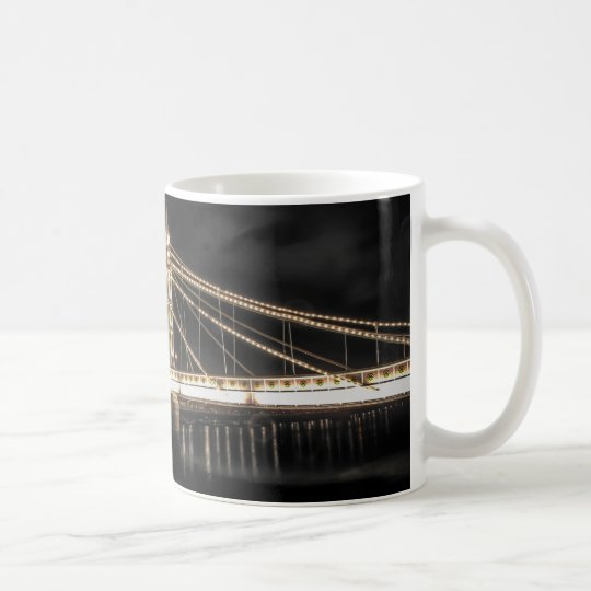 Albert Bridge crosses the River Thames, London Coffee