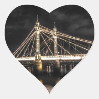 Albert Bridge crosses the River Thames, London Heart Sticker