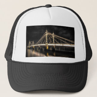 Albert Bridge crosses the River Thames, London Trucker Hat