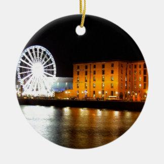 Albert dock Complex, Liverpool UK Christmas Ornament