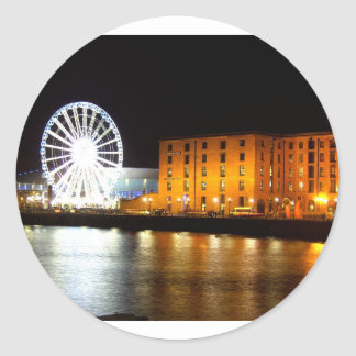 Albert dock Complex, Liverpool UK Classic Round Sticker
