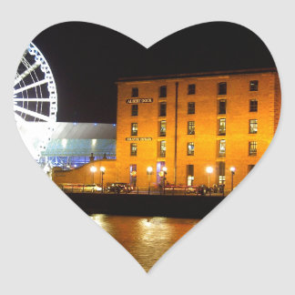 Albert dock Complex, Liverpool UK Heart Sticker