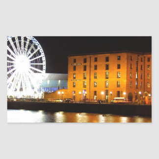 Albert dock Complex, Liverpool UK Rectangular Sticker