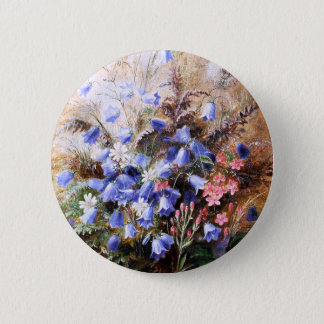 Albert Dürer Lucas: Harebells and Centaury 6 Cm Round Badge