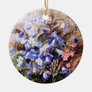 Albert Dürer Lucas: Harebells and Centaury Round Ceramic Decoration