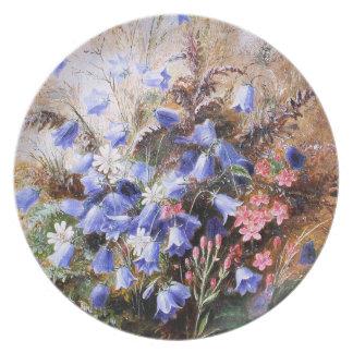 Albert Dürer Lucas: Harebells and Centaury Party Plates