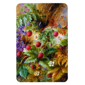 Albert Dürer Lucas: Wild Strawberries & Butterfly Rectangular Photo Magnet