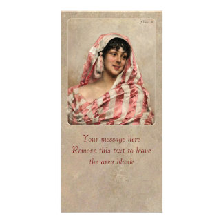 Albert Edelfelt Laughing model with a cloth CC0165 Customised Photo Card