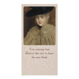 Albert Edelfelt Woman with a black hat CC0166 Personalized Photo Card