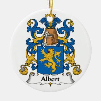 Albert Family Crest Christmas Ornament
