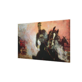 Albert I  King of Belgians in the First World Canvas Print