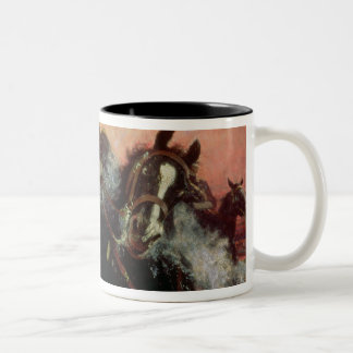 Albert I  King of Belgians in the First World Two-Tone Coffee Mug