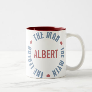 Albert Man Myth Legend Customizable Two-Tone Coffee Mug
