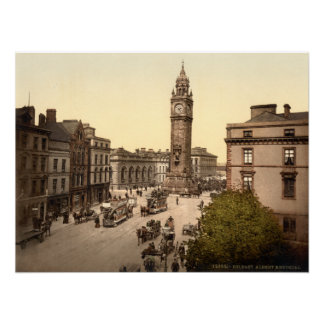 Albert Memorial, Belfast, Archival print