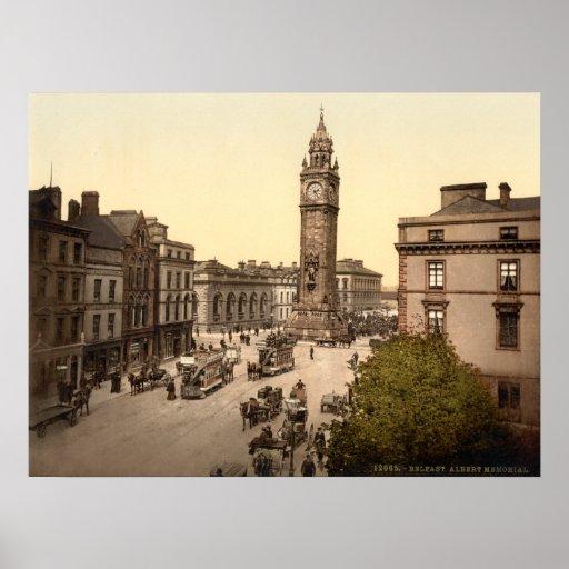 Albert Memorial, Belfast, Archival print