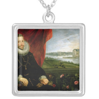 Albert of Habsbourg  Archduke of Austria Silver Plated Necklace