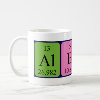 Albert periodic table name mug
